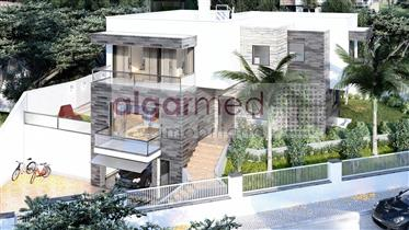 Algarve - Armação de Pêra - Residential plot for sale, with an approved project for a modern house
