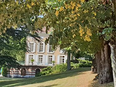 Chateau Du Xviii In Magnificent Park With Several Outbuildings.