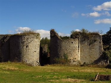 Remains of a listed 12th C. Fortified chateau.