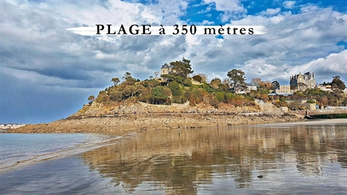 Beautiful french house and its building land for sale in Dinard (350m from the beach)