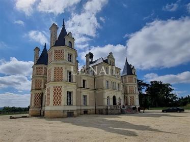 Beau château avec 30 hectares à vendre en Anjou