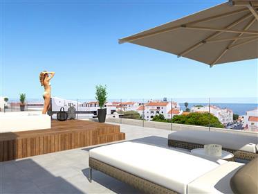 Three bedroom penthouse, pool, garage, jacuzzi, sea view, Albufeira