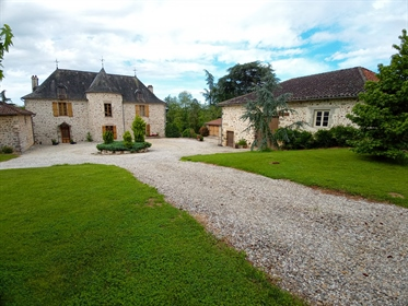 Beautiful chateau dating from the 15th century in an elevated position with ten acres of parkland an