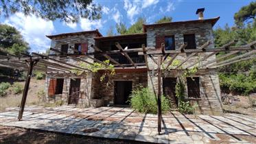 The residence is located just above the sea, next to the traditional fish village of Katig