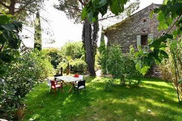 Village property with garden and pool