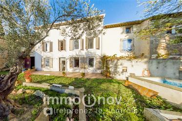 Languedocienne 5 pièces 200m² Piscine Jardin 1500m² + Gite