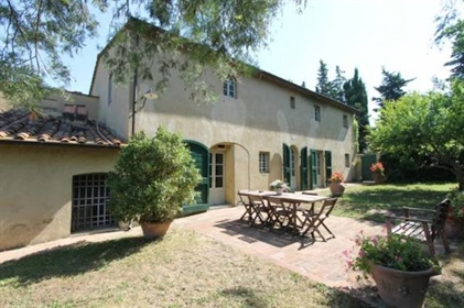Bolgheri Tuscan farmhouse for sale, sea view in a park of ab...