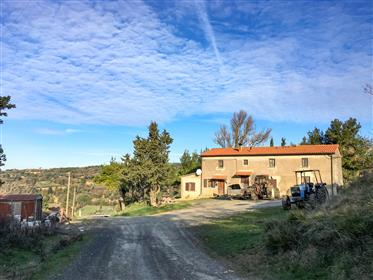 Farmhouse with magnificent sea view in the hills of Casale Marittimo