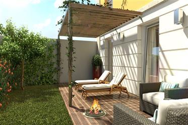 Apartamento T2 novo em condomínio com piscina