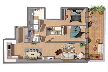 Apartamento T2 com varanda em construção no centro do Porto ...