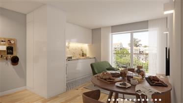 Apartamento T0+1 funcional e confortável, com jardim - Espinho
