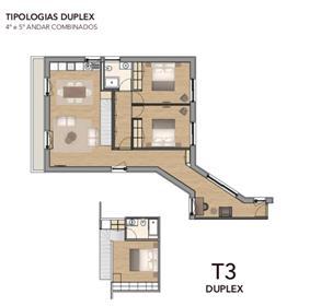 Apartamento T3 duplex junto a Praça da Batalha e Sé do Porto