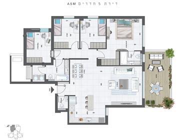 """דירה : 148 מ""""ר"""