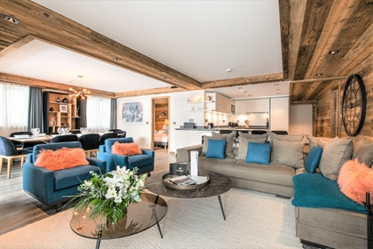 Outstanding ski in and out 4 bedroom apartment directly on the slopes of Courchevel
