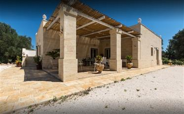 Trulli + Lamie with Pool and Patio in Ostuni