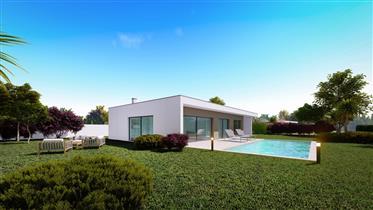 3 Modern detached houses for sale on the Silver Coast of Portugal – Tornada – Casas da Rodela.