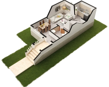Private residential area composed by bungalows, townhouses and villas located in a fantast