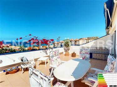 Penthouse avec vue magnifique sur la mer à Los Cristianos, Arona, Tenerife Sud!