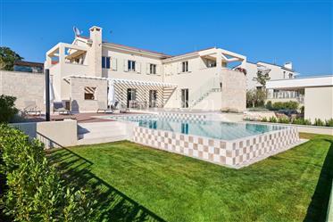 Luxury Villa Near Višnjan With An Amazing View And Wellness