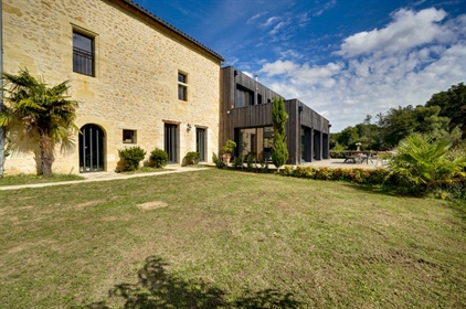Exceptional stone property with contemporary addition on 3.7ha of land, walking distance to the vill
