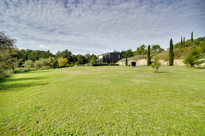 Exceptional stone property with contemporary addition on 3.7...