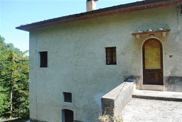 Volterra: Casa di campagna con 2 annessi interamente da ristrutturare e 2 ha di terreno