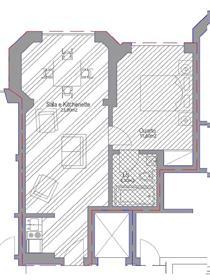 Apartamento T1 com estacionamento, remodelado e mobilado, em Cascais