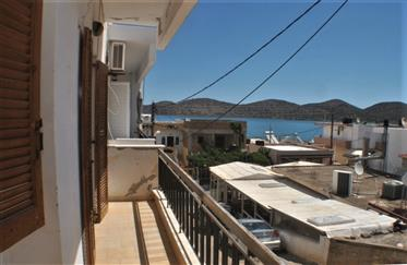 Sea View One Bed Apartment in Elounda. Roof Terrace. 50M to the Sea - East Crete