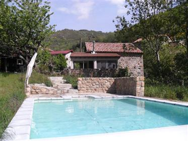 Charming, renovated authentic detached villa in the Ardeche ...