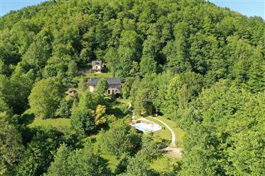 Maison de montagne, gites, piscine, sauna, 8.5ha terrain