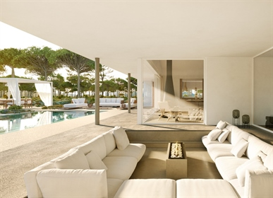Luxury modern construction blended with nature in a exclusive resort near Lisbon