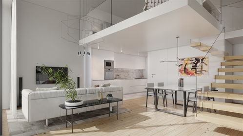 Glamorous 1 + 1 duplex bedroom Apartments   Luxurious finishes   in Porto city center, Portugal