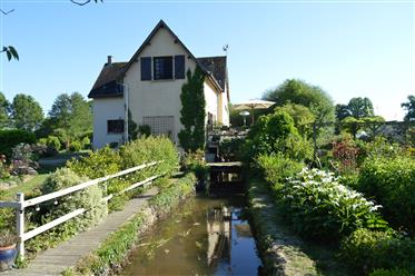 Country house by a river