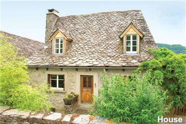 Renovated house with two gites and 10 acres of land in pretty hilltop village with 12th century chat