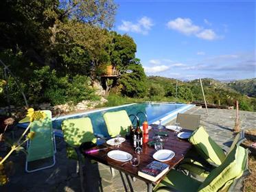 Krétske skryté magické útočisko a strom-dom Rethymnon