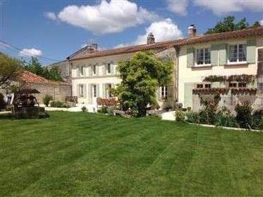 Charentaise Stone Farmhouse with pool and has barn and gite conversion potential