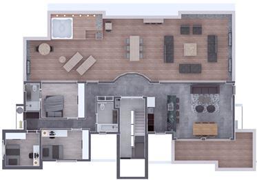 Nouveau 3Br, 2Bt penthouse, 112Sqm + 112Sqm terrasse