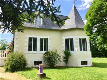 Detached 3-4 bed house with pool in Perigord-Limousin National Park