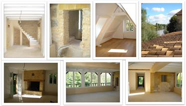 Maison périgourdine sur les rives de la Dordogne.