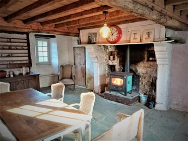 La Cheraudiere. Superb retro hillside lodge with river, woodlands and prairie