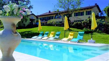 Hermosa casa de campo en Langhe/Monferrato con piscina de agua salada