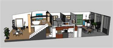 161M2 Corazón Croix Rousse, apartamento y garaje