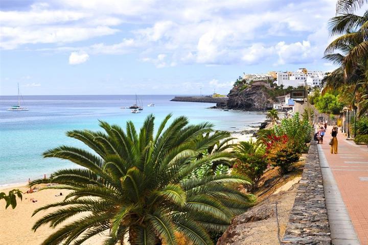 Plage de Morro Jable à Fuerteventura, Iles Canaries