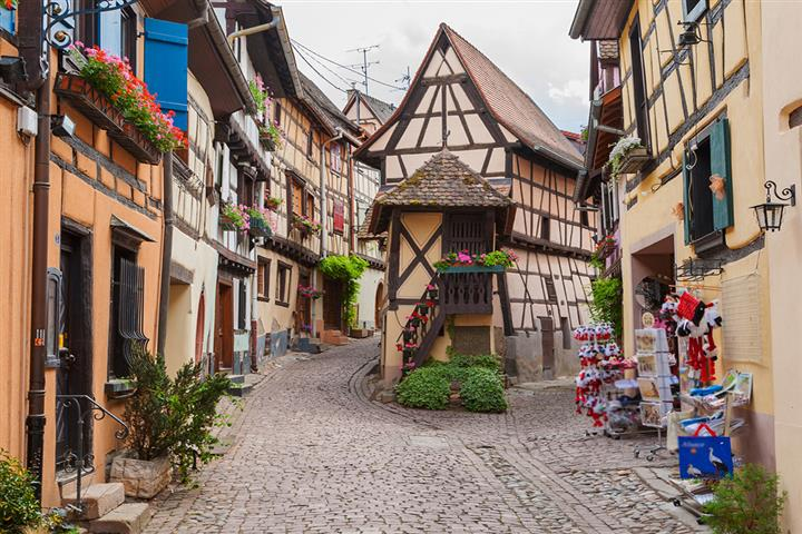The village of Eguisheim, Alsace