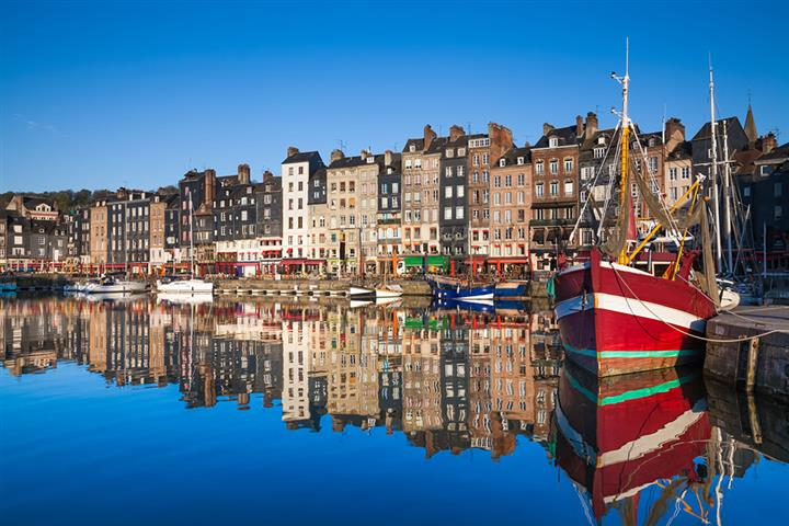 Honfleur harbor, Calvados, France