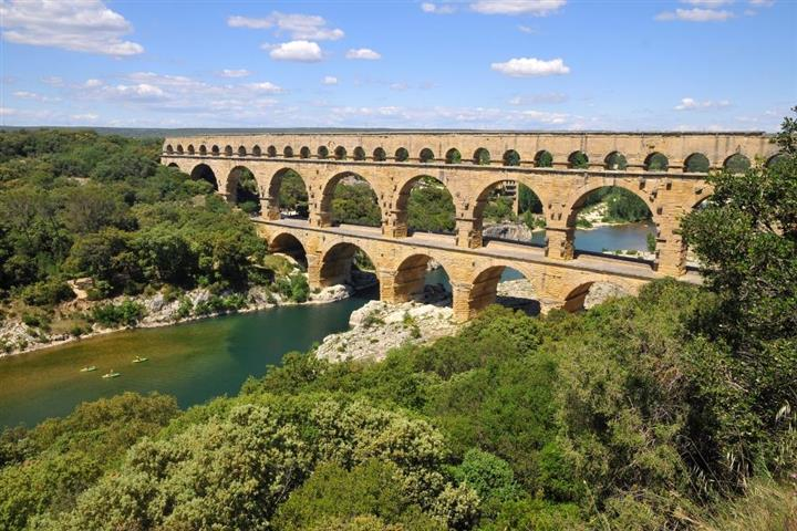 The Pont-du-Gard, near Nimes
