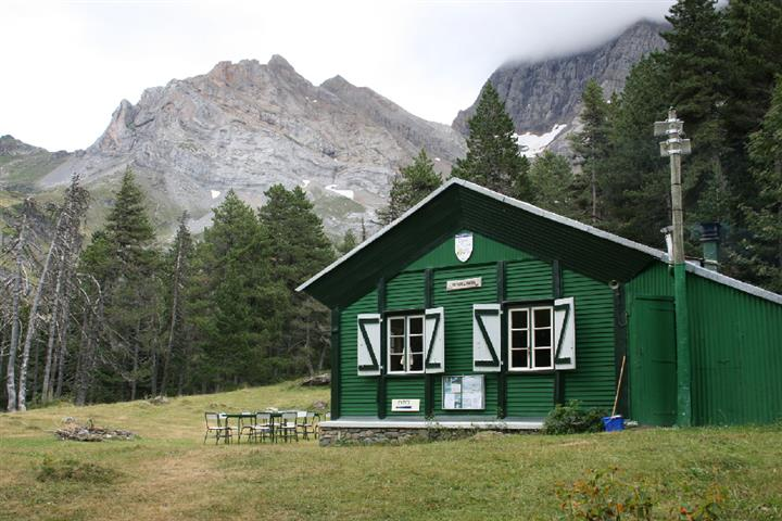 Mountain refuge in the Gavarnie hills, Hautes-Pyrénées