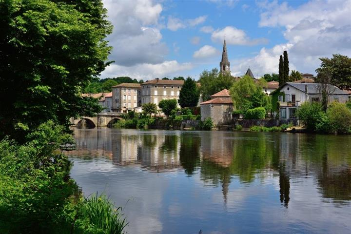 The Vienne river in Cofolans, Poitou-Charentes