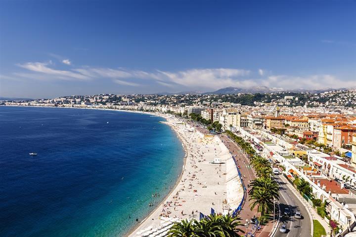La baie des Anges et la Promenade des Anglais, Nice